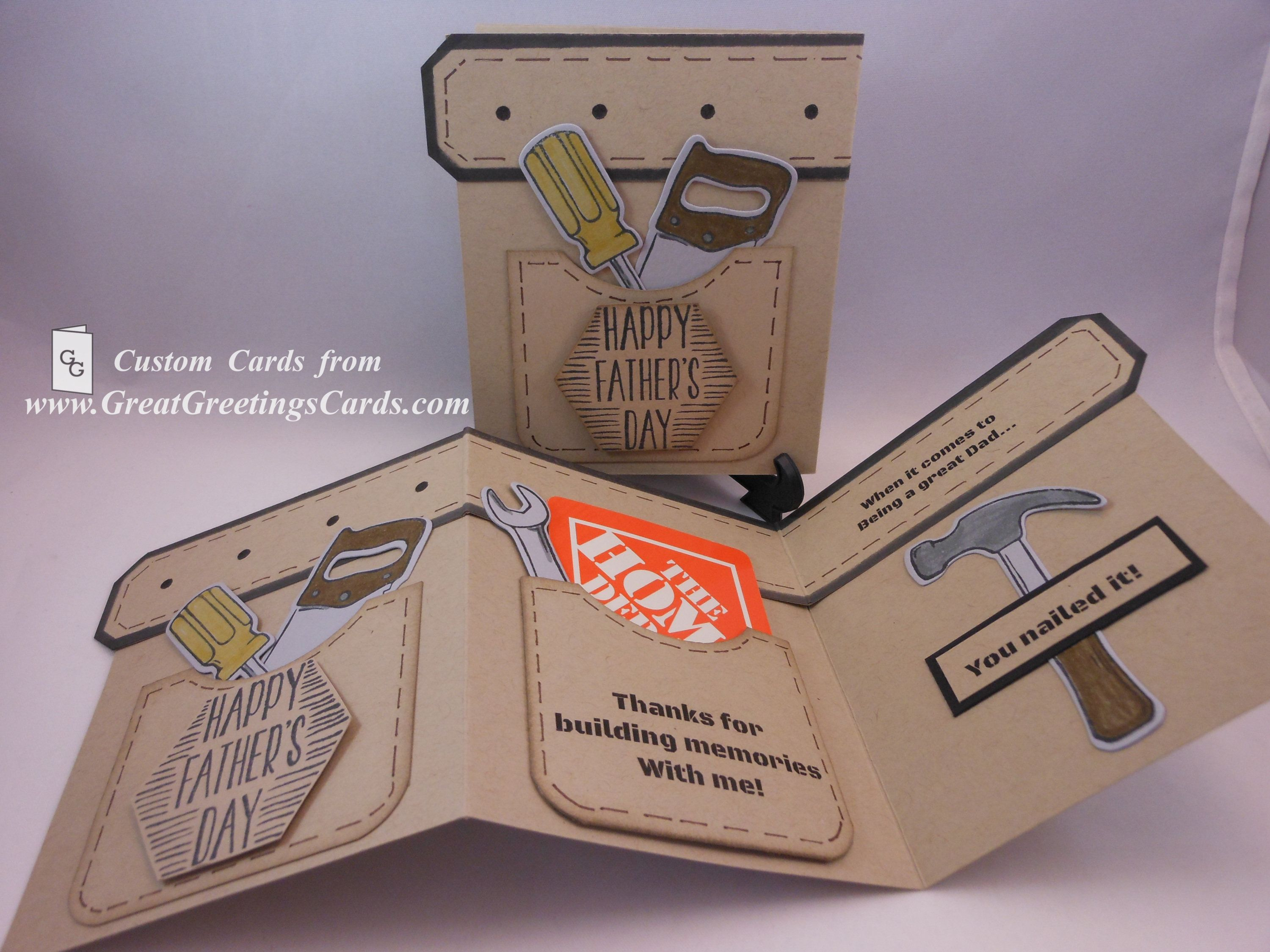 Fathers Day Card Tool Belt Fathers Day Tool Belt Gift Card Gift Card Holder Birthday Gift Card Holder Wallet Gift Card Holder