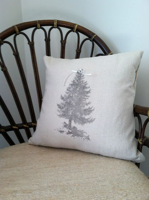 Year of the Perfect Christmas Tree pillow- Citrasolv transfer