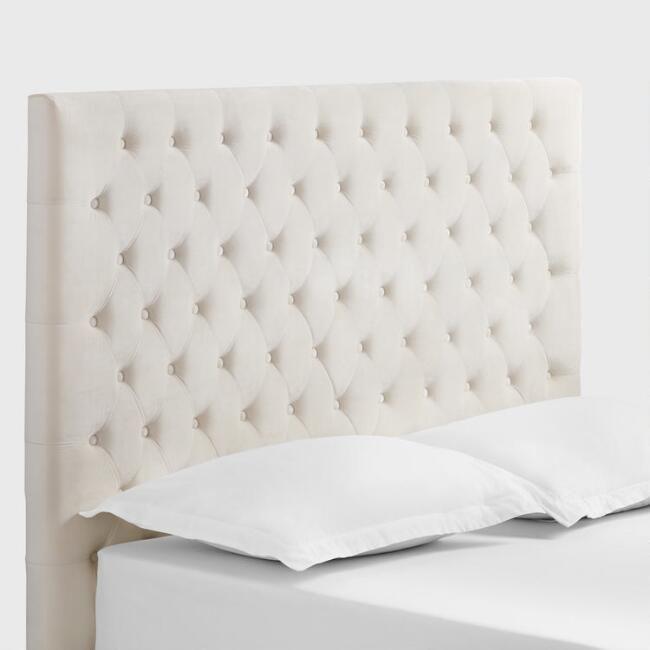 World Market Ivory Jaelyn Tufted Queen Headboard - v1   Bed   Pinterest