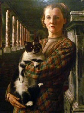 Wilma with a Cat - Carel Willink