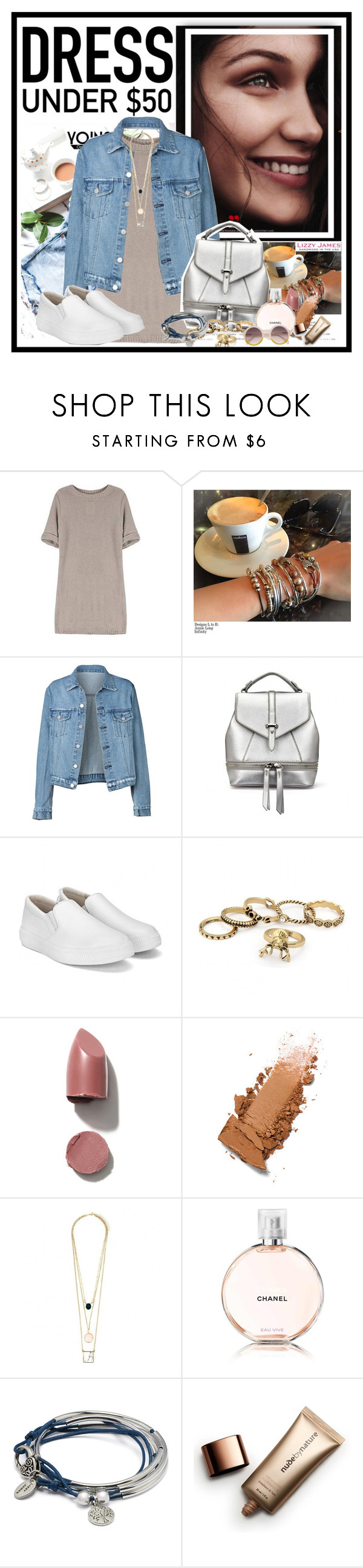 """Yoins 3..."" by cindy88 ❤ liked on Polyvore featuring Lizzy James, Chanel, Nude by Nature, yoins, yoinscollection, loveyoins, Dressunder50 and lizzyjames"
