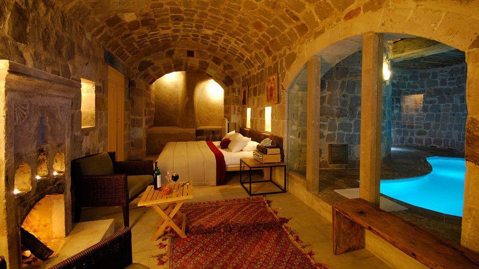 Private indoor pool suites  Argos hotel, Cappadocia, Suite- With Indoor Private Pool | sPa ...