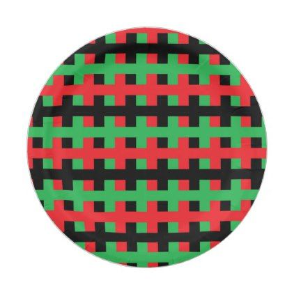 Abstract Red Black and Green Paper Plate - red gifts color style cyo diy personalize unique  sc 1 st  Pinterest & Abstract Red Black and Green Paper Plate | Green paper