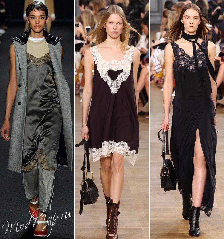 Платья комбинации мода
