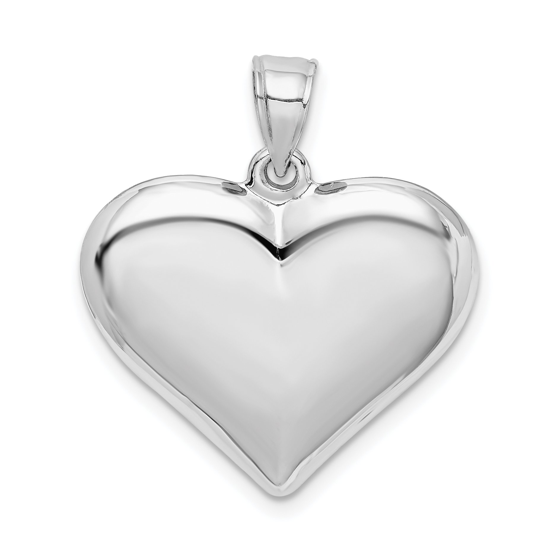 .925 Sterling Silver Heart Locket Pendant With High Polished Finish