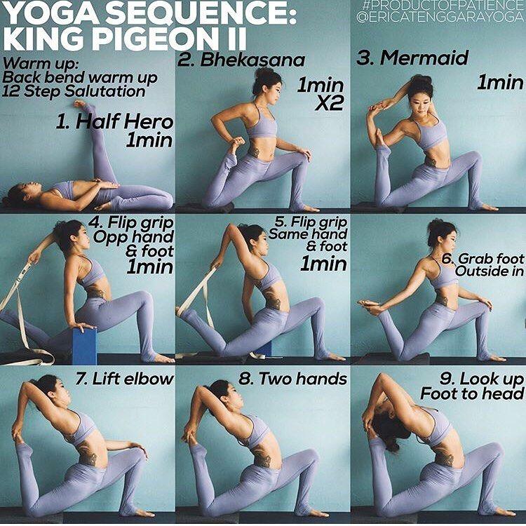 Halona Yoga On Instagram Eka Pada Rajakapotasana Ii One Legged King Pigeon 2 Stretches Front Of Torso Yoga Sequences Yoga For Beginners Yoga Postures