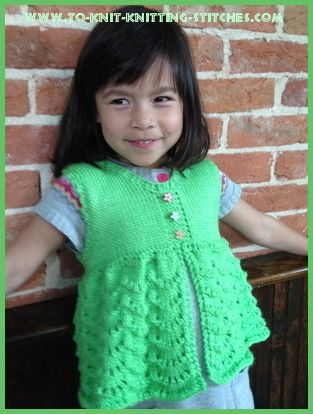Scallop Vest Free Knitting Pattern Sizes 3 6 Use Different Needle