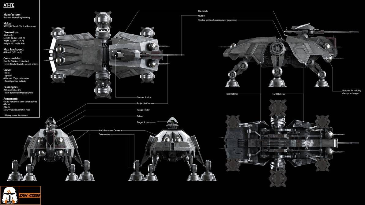 At Te Blueprint By Erik M1999 On Deviantart In 2020 Star Wars Images Walker Star Wars Artist