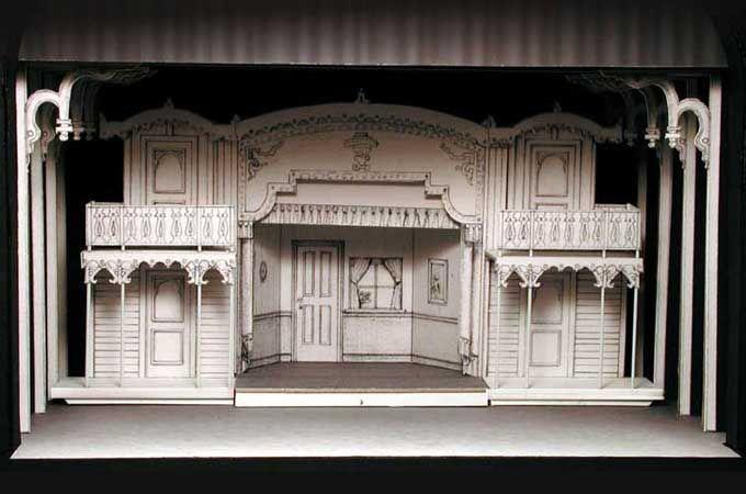 Showboat 1 4 scale model theatre interior set scene - 1 4 scale furniture for interior design ...