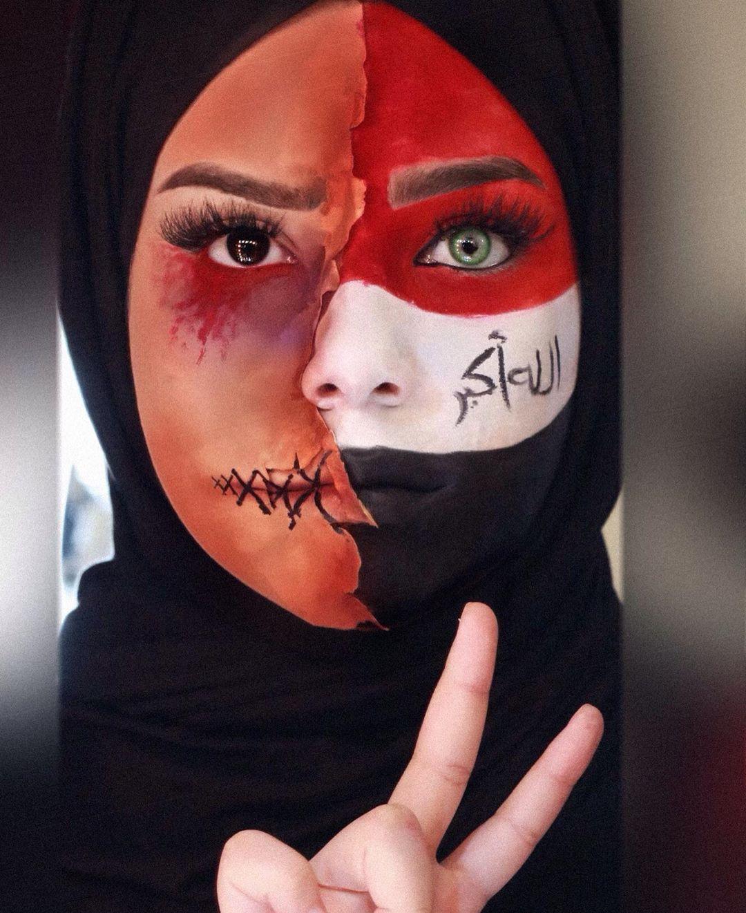 Iraq 25 October Carnival Face Paint Halloween Face Makeup Halloween Face