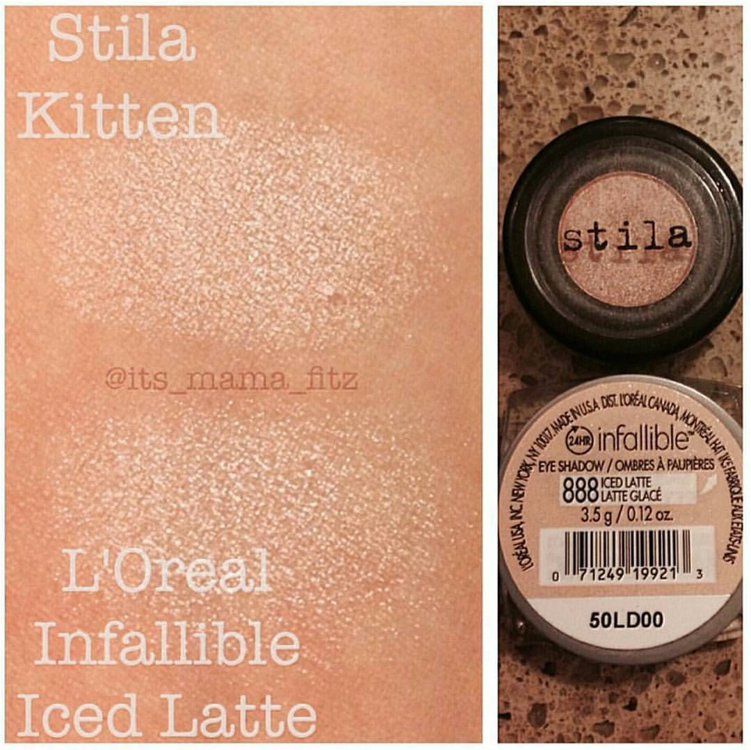 Dupethat On Instagram Amazing Dupe For Stila S Kitten Eyeshadow Shared By Its Mama Fitz Tag Us In Your Eyeshadow Dupes Stila Kitten Eyeshadow Makeup Dupes