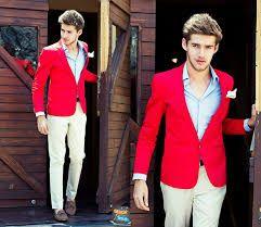 Resultado de imagen para red coat for men