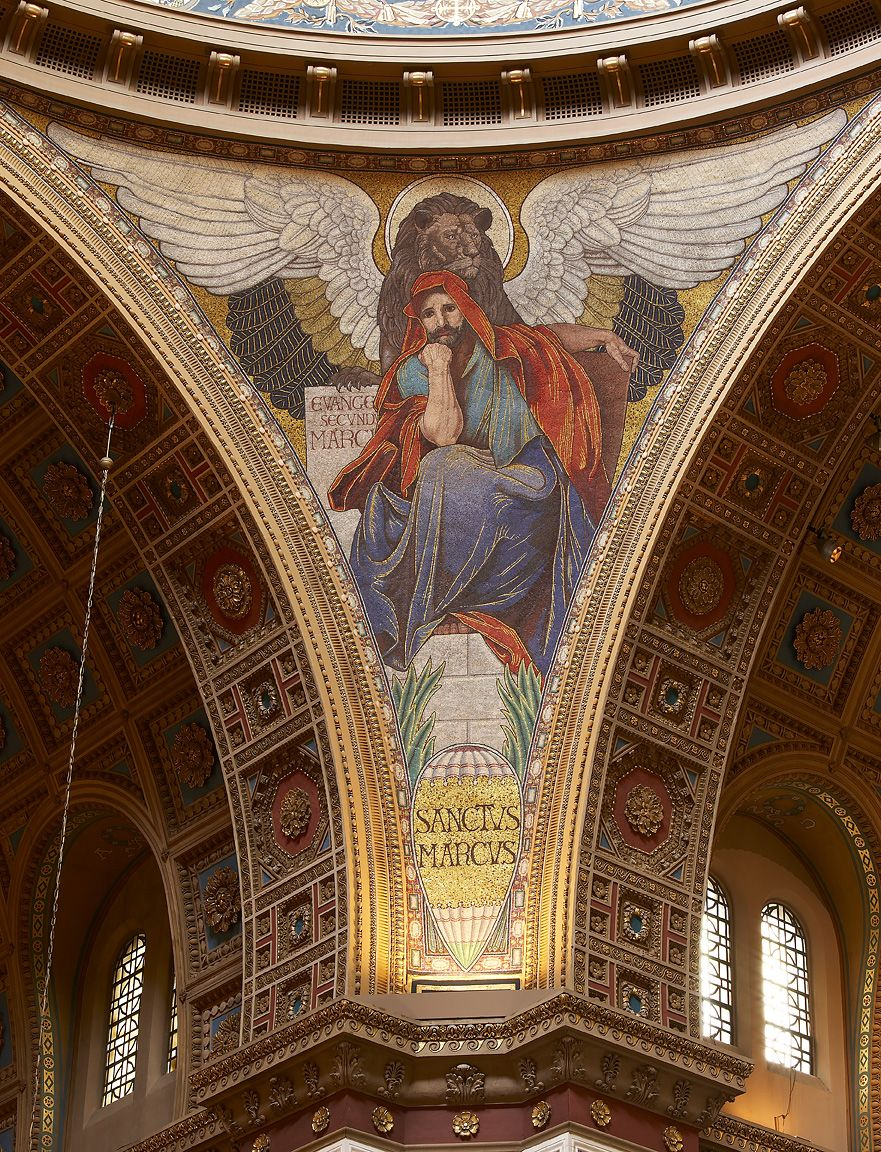 Mosaic of st mark at the cathedral of st matthew the apostle mosaic of st mark at the cathedral of st matthew the apostle washington biocorpaavc Choice Image