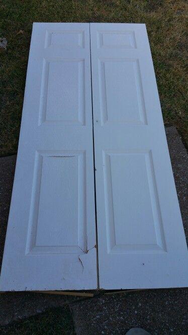 One blank door