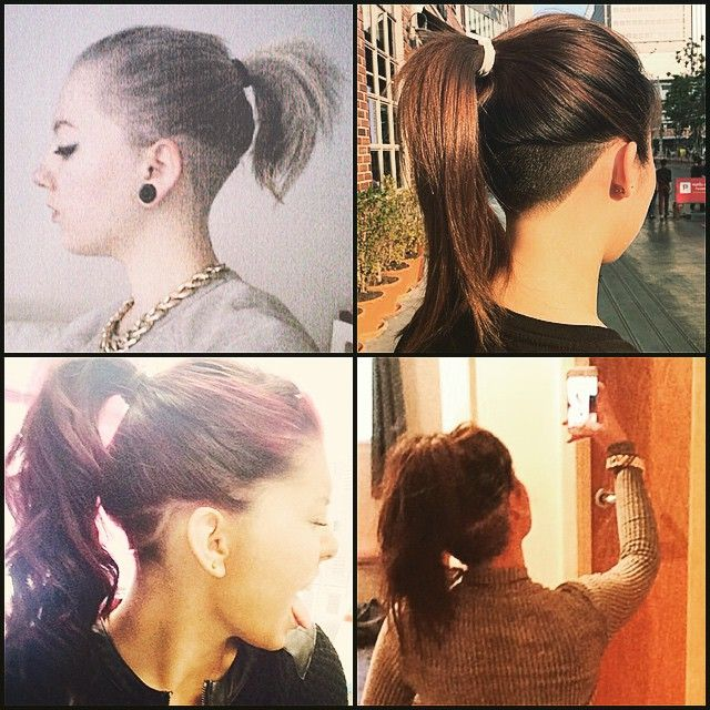 Super Long Hair Undercut Ponytail Google Search Style Pinterest Hairstyles For Women Draintrainus
