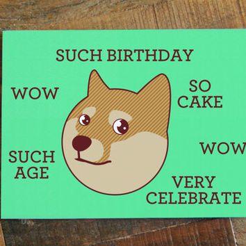 Doge birthday card such birthday funny card internet meme doge birthday card such birthday funny card internet meme humor card bookmarktalkfo Choice Image