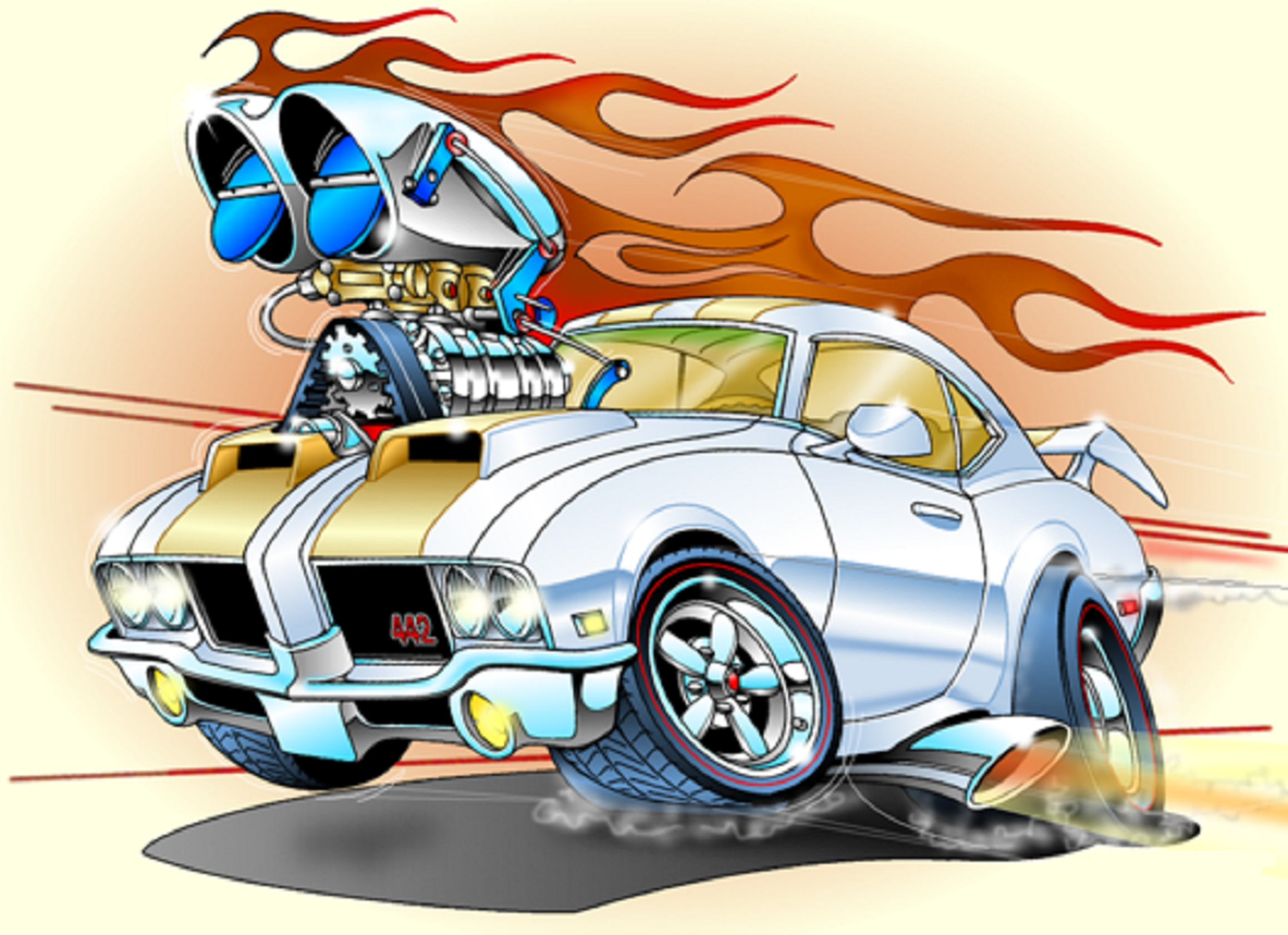 Best Car Toons Images On Pinterest Cartoons Muscle Cars
