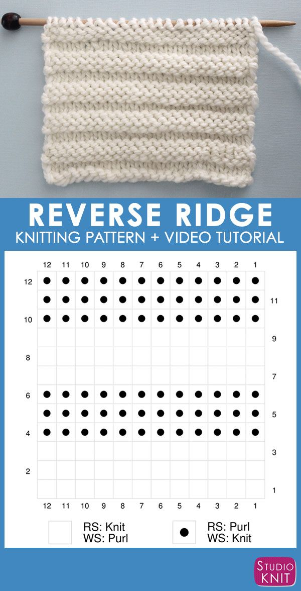 Reverse Ridge Knit Stitch Pattern With Video Tutorial Patterns