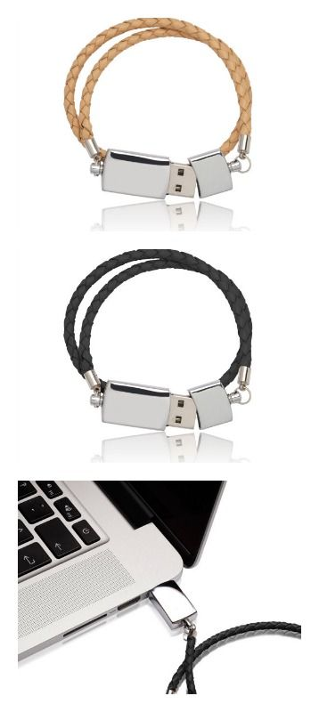 Flash drive bracelets at By Nordvik on Etsy. Great simple Danish design
