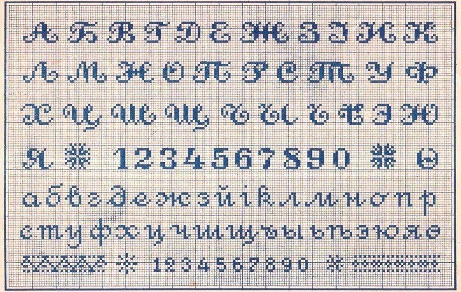 Вышивка буквы русского алфавита крестиком
