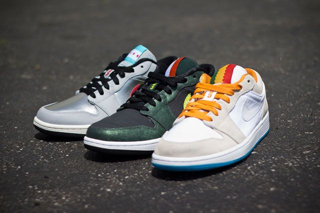 the best attitude 4a168 88f24 AIR JORDAN 1 LOW (CITY FLAG PACK) | Sneaker Freaker | Shoes I Dig ...