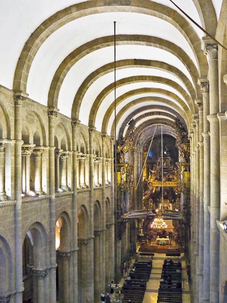 Catedral de santiago de compostela vista desde la tribuna arquitectura rom nica pinterest - Santiago de compostela arquitectura ...