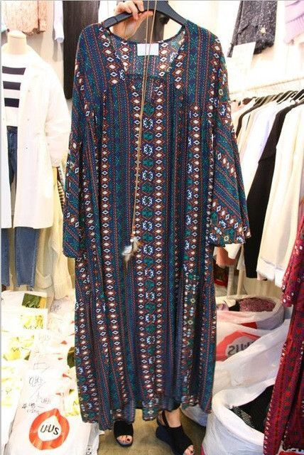 Thailand Bohemian Holiday Beach 2017 Summer dress The new long section of floral crossed cotton and linen dress -03d27