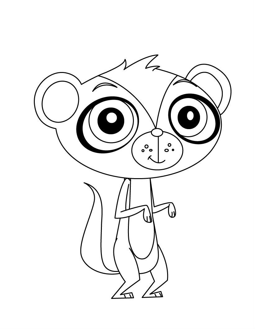 Littlest Pet Shop Stood With Bulging Eyes Coloring Pages For Kids Fvc Printable Littlest Pet Littlest Pet Shop Puppy Coloring Pages Preschool Coloring Pages
