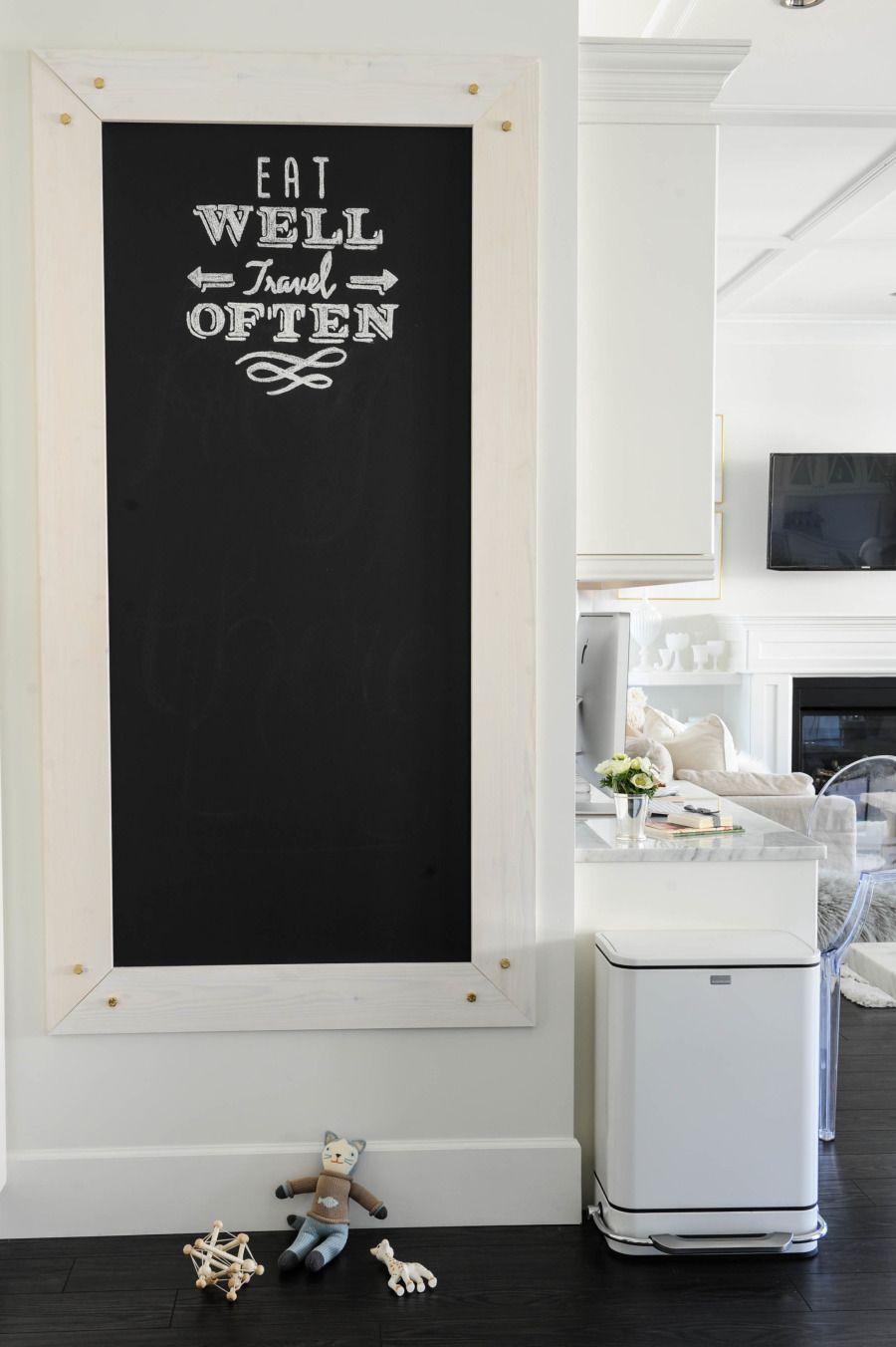 deco tableau noir cuisine message  Ardoise cuisine, Design de
