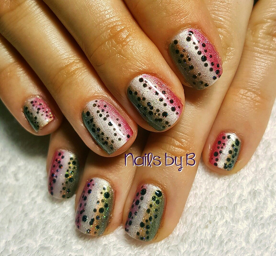 Rainbow Trout Nails Nails by B, Eugene Oregon | Nails by B That\'s Me ...