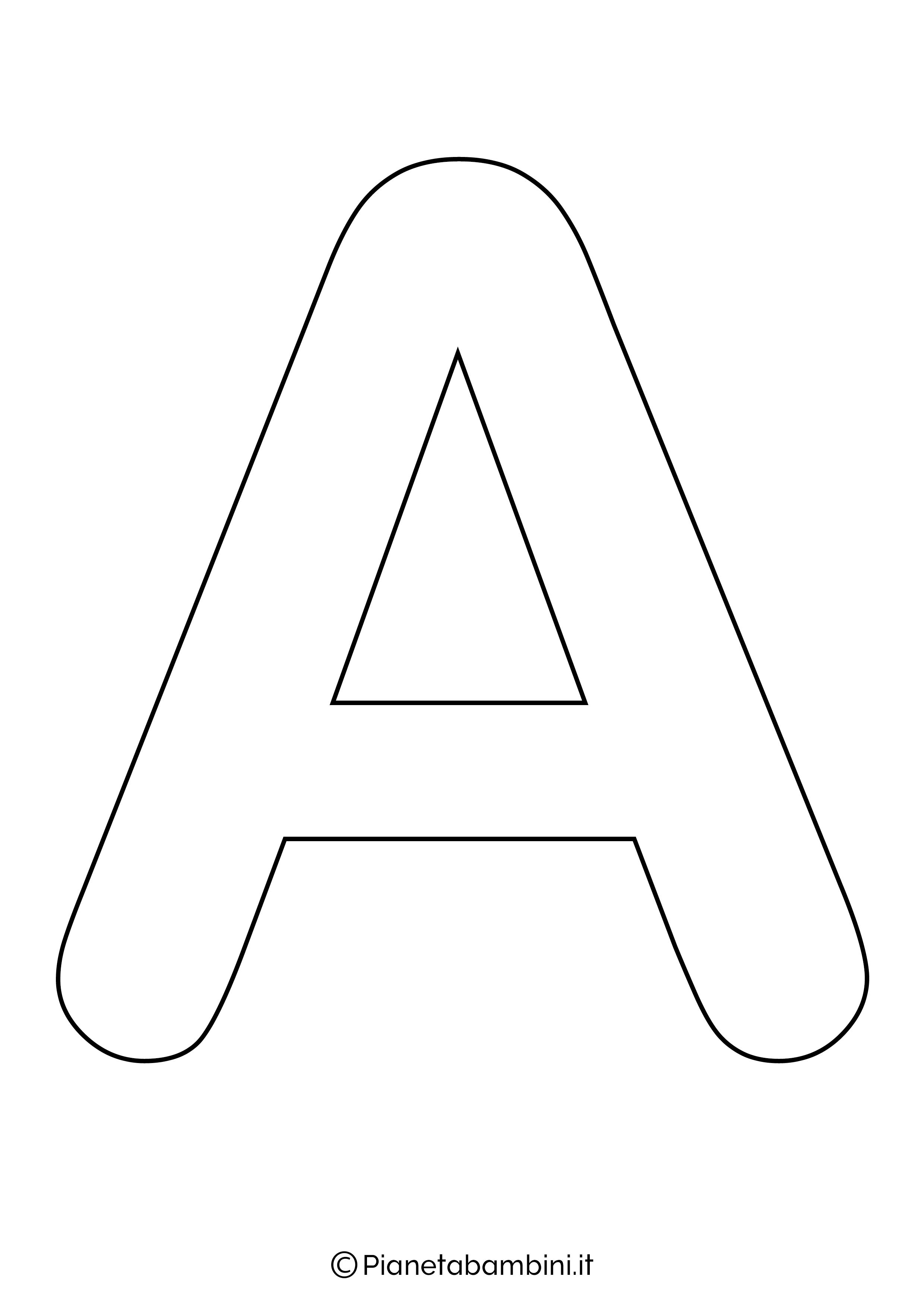 Lettere Alfabeto Da Copiare lettere dell'alfabeto da stampare, colorare e ritagliare nel