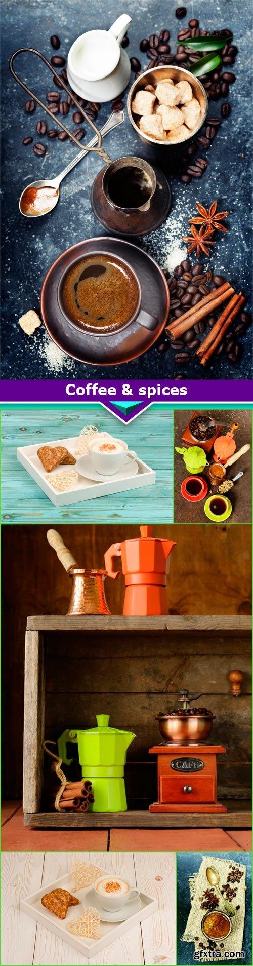 Coffee & spices 6x JPEG