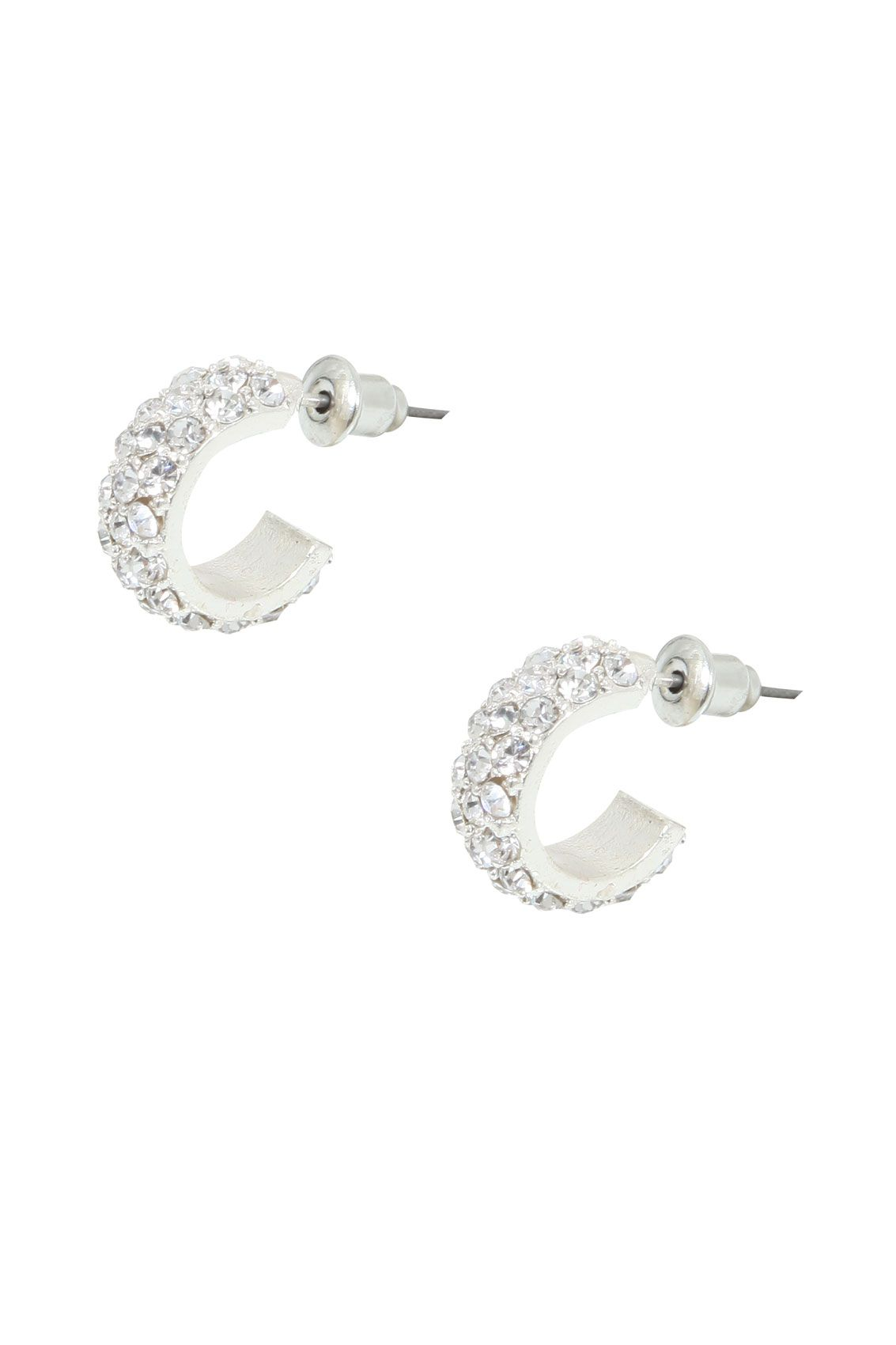 and hoop white earring rickis set stud hi gold clear rhodium