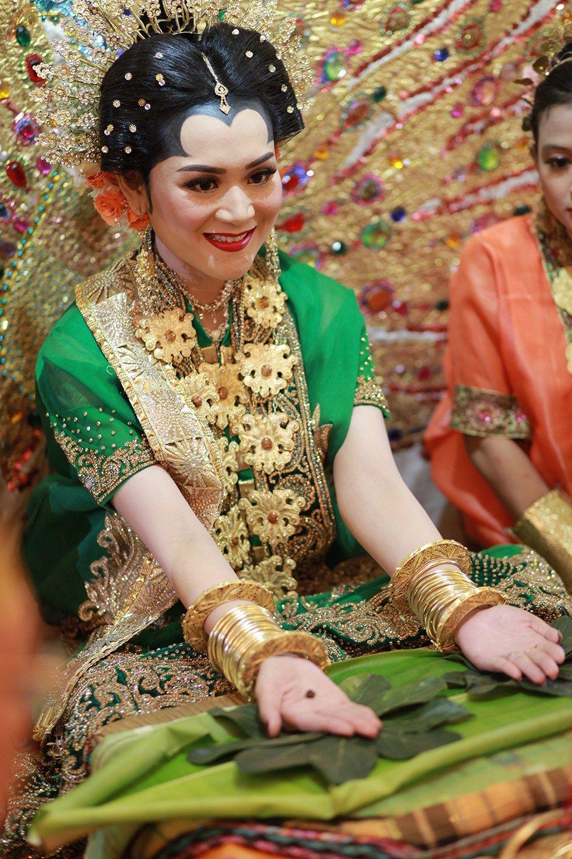 Perpaduan pernikahan adat Makassar dan Palembang ternyata cantik