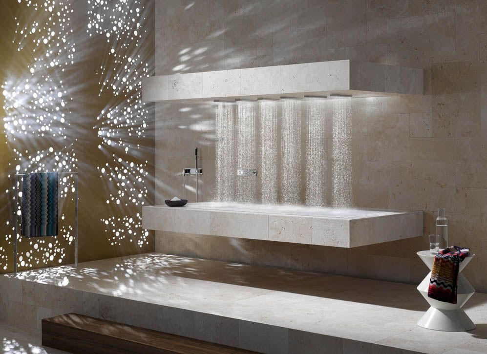 Horizontal Shower With Ambience Tuning.