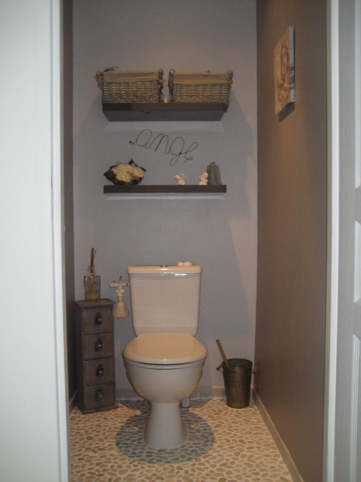 Toilette deco google search nouvelle maison for Peinture toilettes blanc