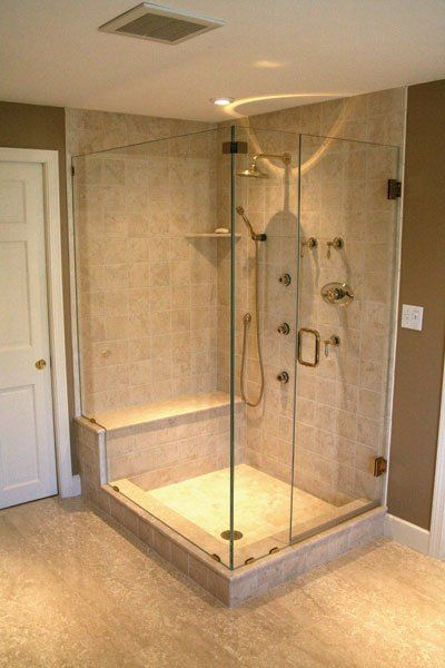 b>Shower Enclosure:</b> Oasis Custom Frameless Shower Door <br><b ...