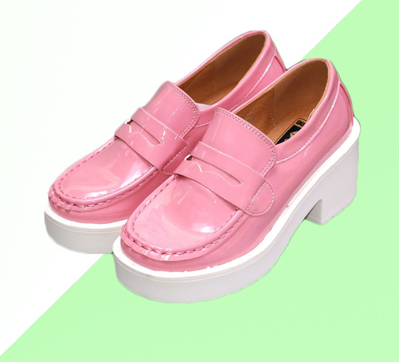 Happy shopping  Color:  pink Shoes size: 35-39 platform high:6.5cm  It is very Trendy for mix and match for collage or punk style.
