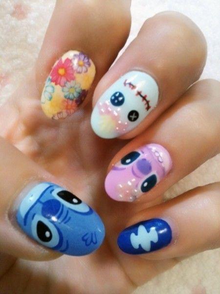 Lilo And Stitch Nails This Fashion Nail Art Disney Disney Nails New Nail Art Design