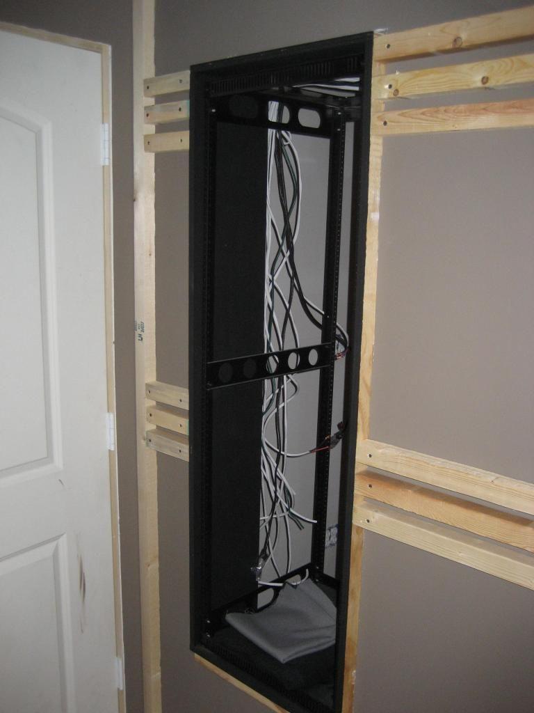 help with av closet rack through wall design [ 768 x 1024 Pixel ]