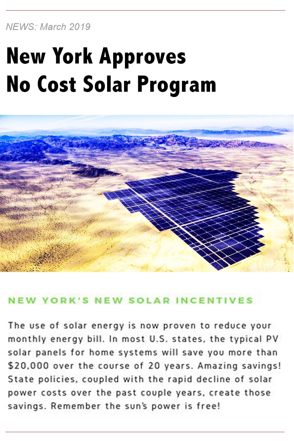 New York Approves No Cost Solar Program For Homeowners Solar Free Solar Solar Panels For Home
