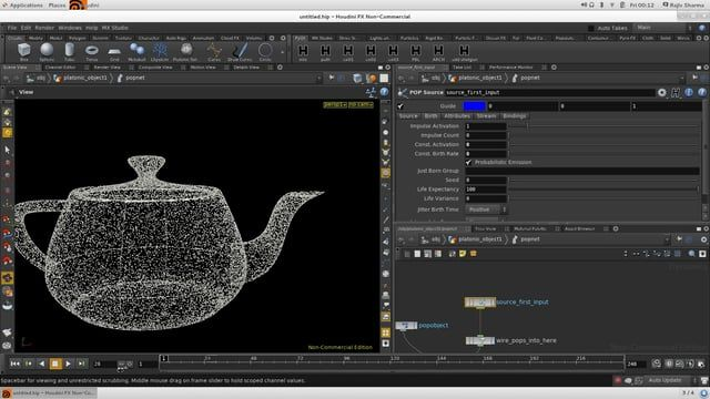 Creating Particle Ripple Effects in Houdini CG TUTORIAL t