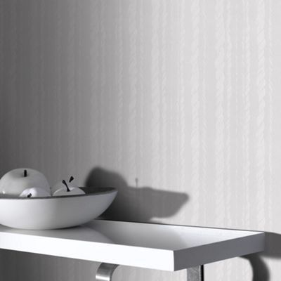 Superfresco Paintables White Large Rope Wallpaper- at Debenhams.com