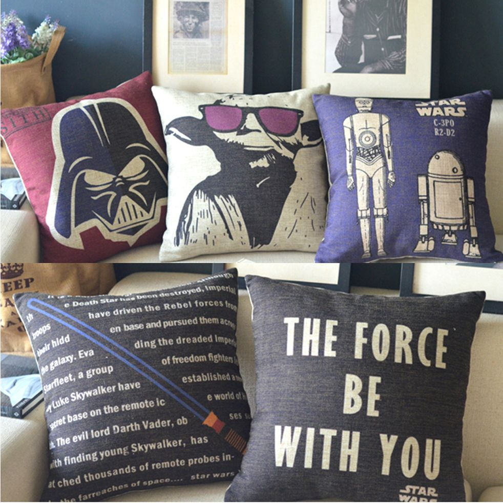 Ikea Decorative Pillows Pleasing The Star Wars Movie Poster 5 Models Ikea Cotton Linen Burlap Design Decoration
