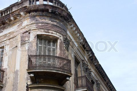 Inside Old Abandoned Mansions | Stock image of 'Abandoned old house.'