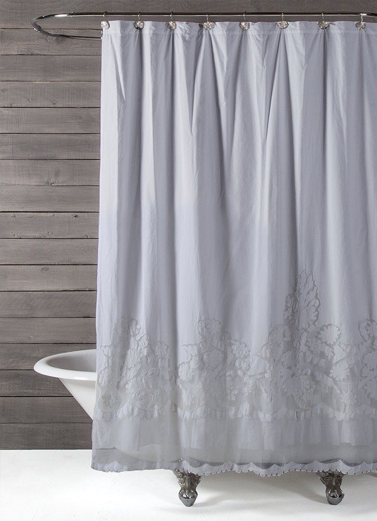 Caprice Shower Curtain 2 Colors In 2020 Lace Shower Curtains