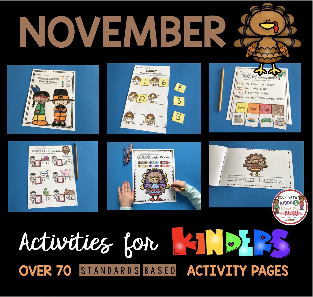 November Math And Literacy Pack