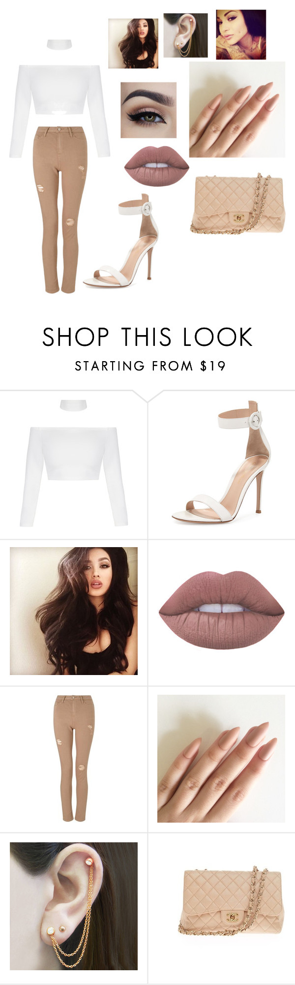 """i love this"" by marynkay ❤ liked on Polyvore featuring beauty, Gianvito Rossi, Lime Crime, Miss Selfridge, Embers Gemstone Jewellery and Chanel"