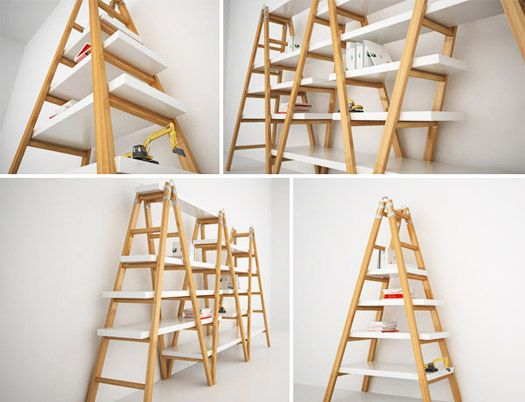 Spotted in Design Milks recent story about Rua Confettora – Diy Ladder Bookcase