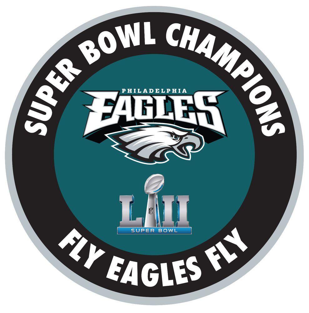 e0c678cb2a4 Philadelphia Eagles 2018 Super Bowl Champions 52 Decal / Sticker ...